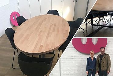 Nieuwe vergadertafels voor VZW FEESTvarken!