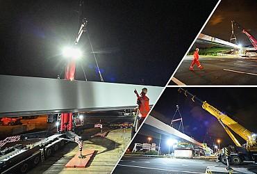 Brugonderdelen Trekfietsviaduct geïnstalleerd