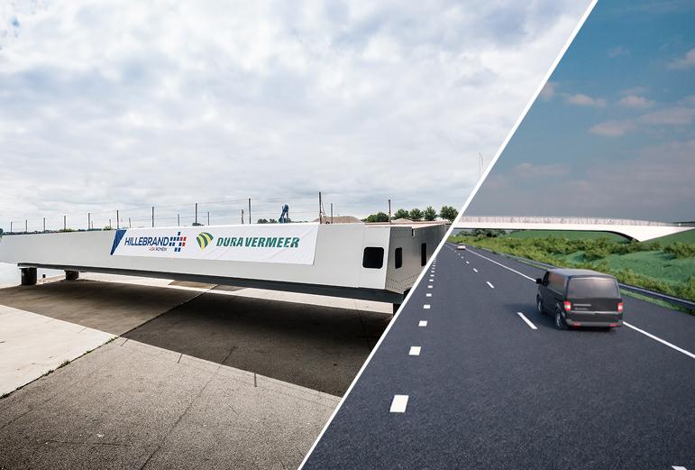 Bouw van het Trekfietsviaduct in den Haag!